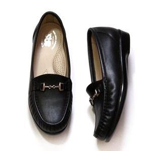 SAS Tripad Comfort Metro Slip On Black Loafers